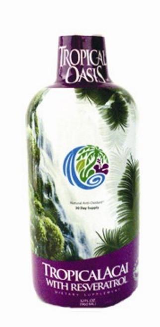 Tropical Acai with Resveratrol 32oz Tropical Oasis