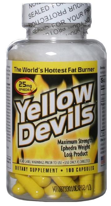 Yellow Devils 100ct Diet Pills w/ Ephedra