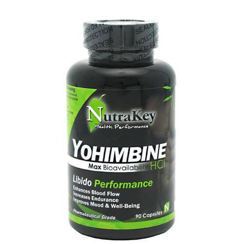 Yohimbine HCL 90ct Nutrakey