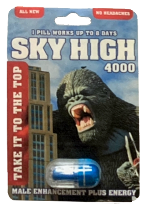 SKY HIGH 4000 Male Sexual Enhancement Plus Energy Pills