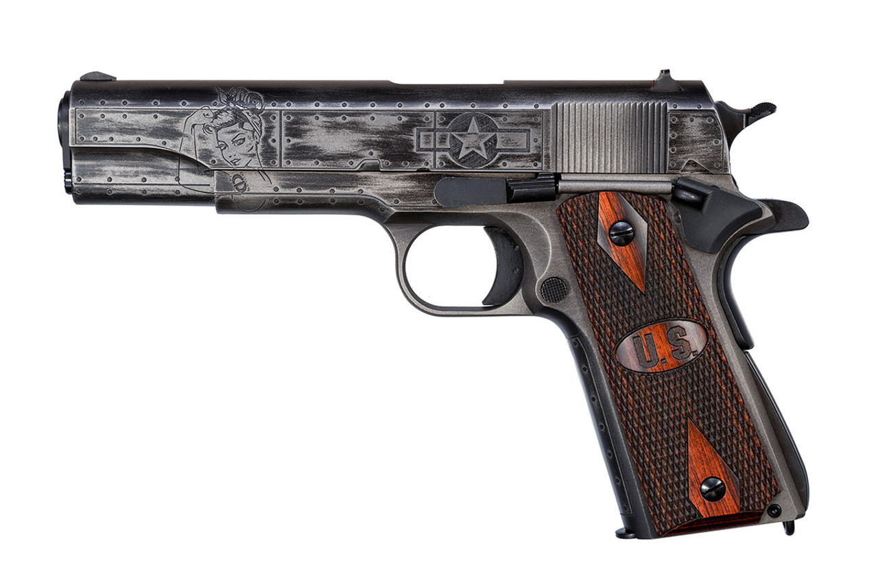 Victory Girls Special Edition WW2 1911,  45Cal , w/ U S  Logo Grip