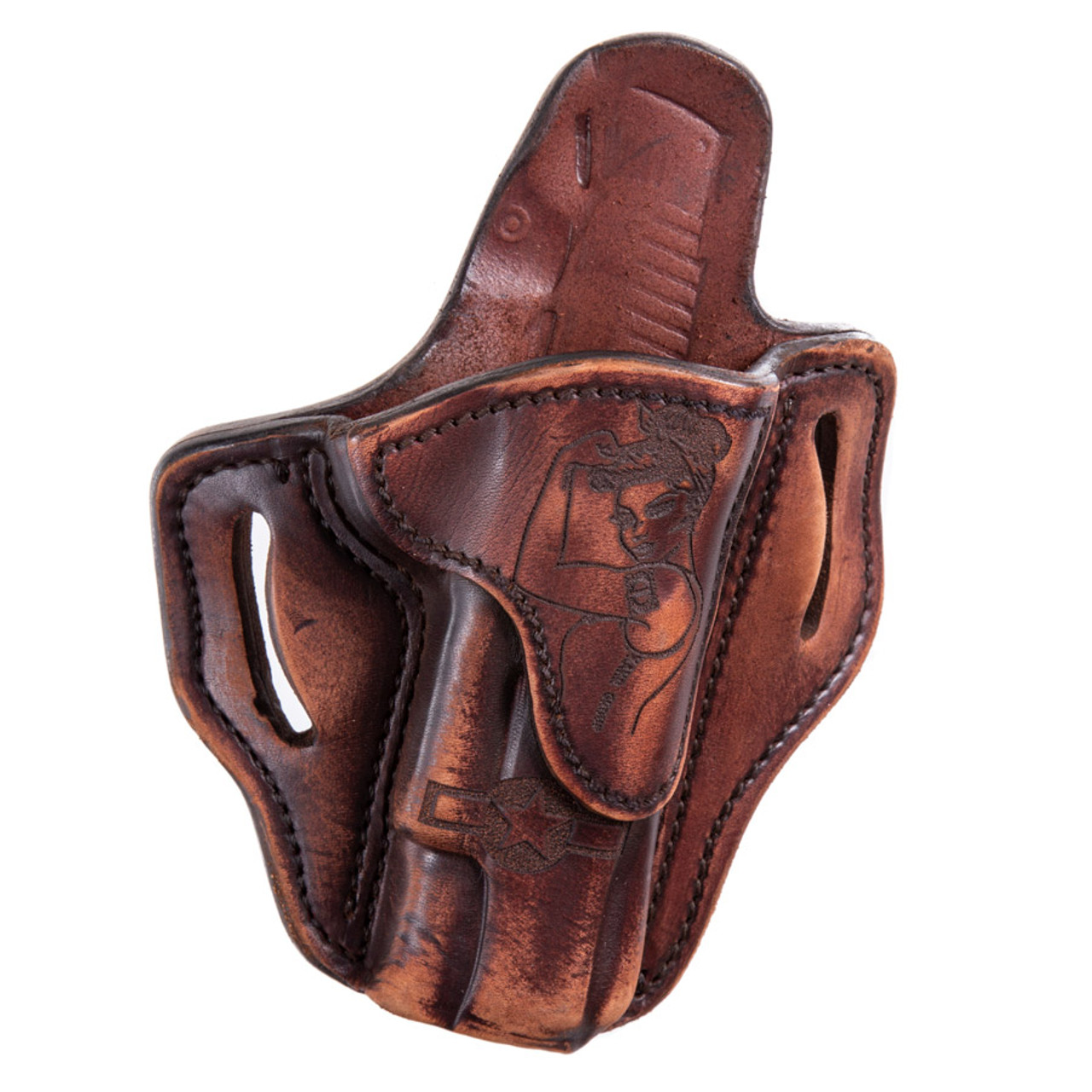 1911 OWB Leather Holster w/ Victory Girl, RH/LH