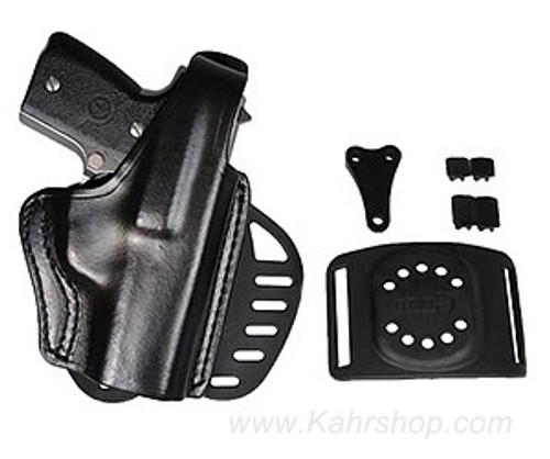 Gould & Goodrich Crimson Trace Paddle and belt-slide holster P9, Right Hand