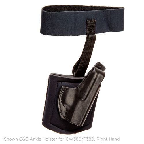 Gould & Goodrich Ankle Holster With Garter CW380/P380, Left Hand