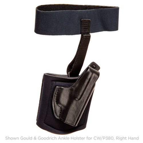 Gould & Gooodrich Ankle Holster CW/P380 With Crimson Trace Right Hand