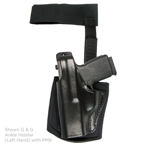 Gould & Goodrich Ankle Holster Crimson Trace Left Hand PM9