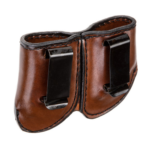Brown Leather Double Magazine Carrier