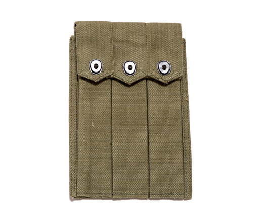 WWII 3 Mag Pouch Carrier, Green