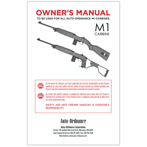 C-OM M1 Carbine Owner's Manual