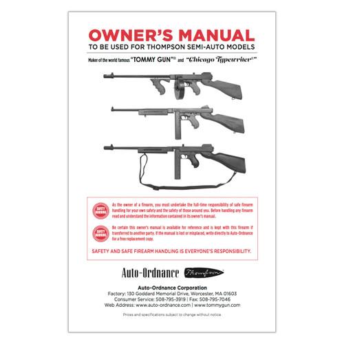T-OM Thompson Owner's Manual (T-OM