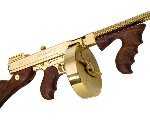 1927A-1, Deluxe Carbine,  45 Cal , Gold plated