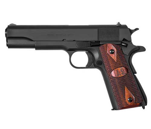 1911A1, GI Specs., Matte Black Finish, .45Cal w/U.S. Logo Grip, MA Approved