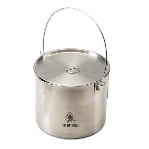Stainless Steel Large Bush Pot And Lid Set (QPFLSSBPK-PF)