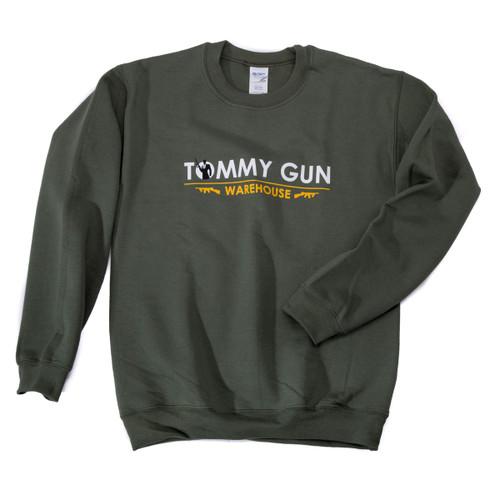 Tommy Gun Warehouse Banner Sweatshirt Military Green