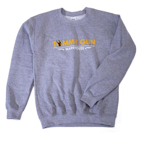Tommy Gun Warehouse Banner Sweatshirt Grey