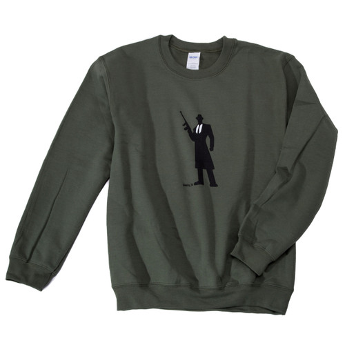 Tommy Gun Warehouse Logo Sweatshirt Military Green