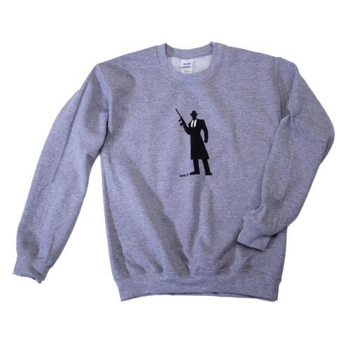 Tommy Gun Warehouse Logo Sweatshirt Grey