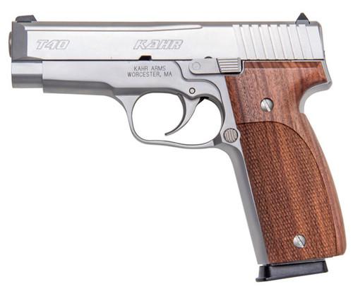 T40, Matte Stainless Steel Slide w/ White Bar-dot Sights
