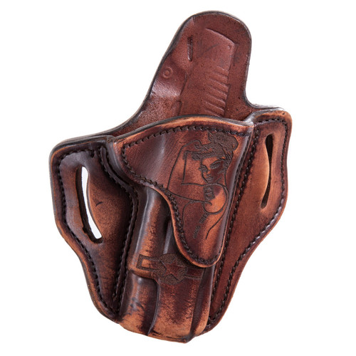1911 Outside Waist Band Leather Holster w/ Victory Girl, Right Hand/Left Hand
