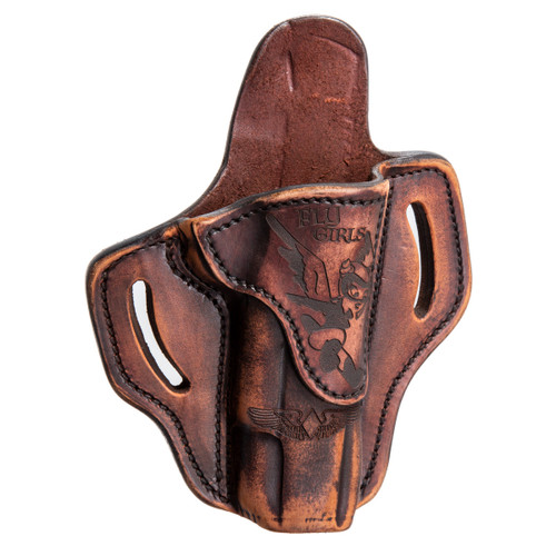 1911 Outside Waist Band Leather Holster, Flygirl, Right Hand/Left Hand