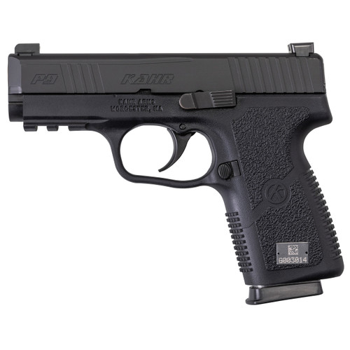P9-2, Blackened Stainless Steel Slide with Night Sights and Front Serrations