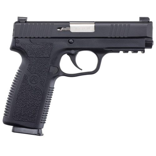 TP9-2, Blackened Stainless Steel Slide with Night Sights and Front Serrations