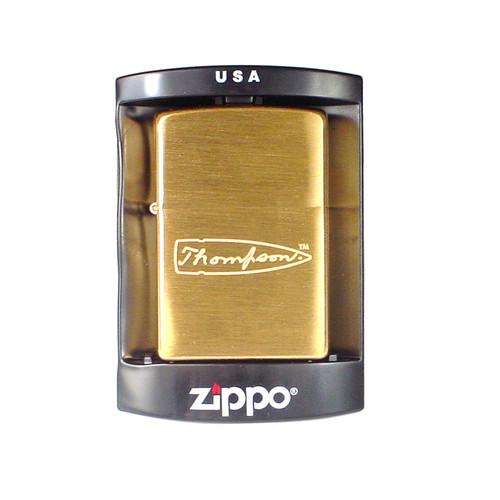 Thompson Brass Zippo Lighter