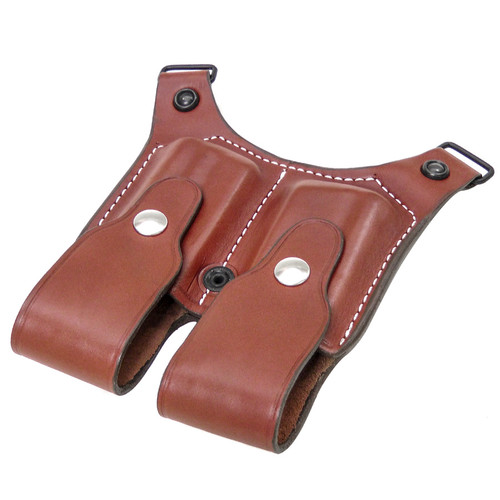 Desert Eagle 357/44/50 Natural Leather Double Magazine Pouch