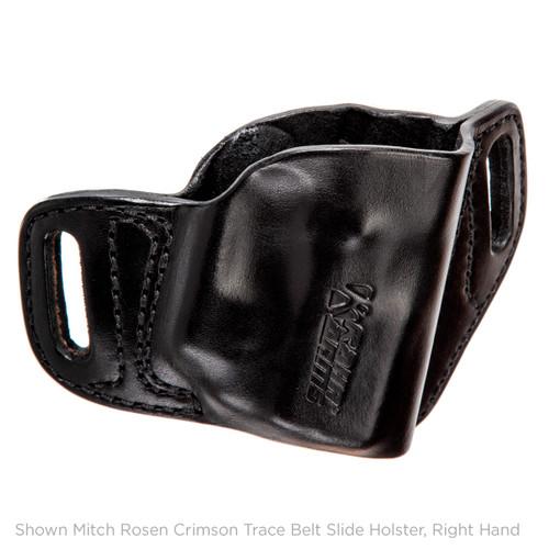 Mitch Rosen Belt-Slide Holster,  PM45 with Crimson Trace, Black