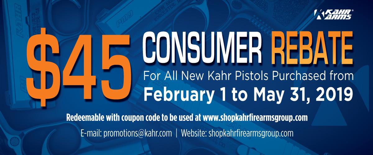 Kahr Consumer Rebate 2019