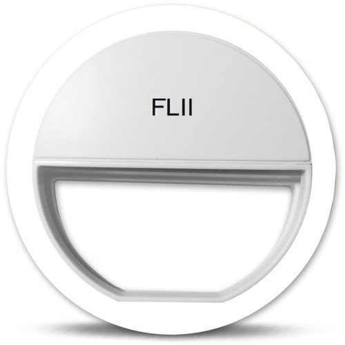 White FLII Selfie Ring Light ( Rechargeable)  & Camera Remote