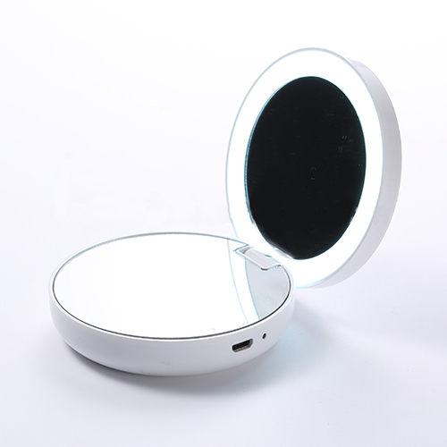 FLII Compact Folding Travel Mirror & Battery Bank in One