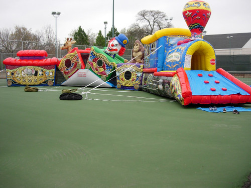 Circus Train Mini Obstacle Inflatable Game Rental