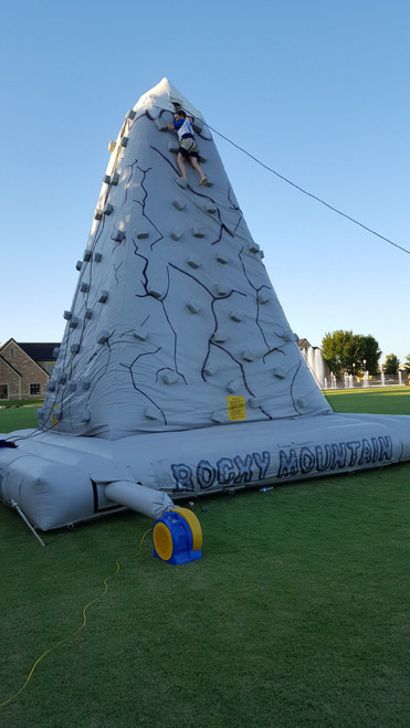 rock climbing inflatable game tulsa