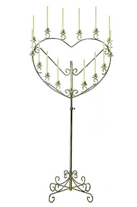 heart candelabra, wedding candles, candelabras tulsa