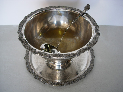 Gold and Silver Punch Bowl Rental