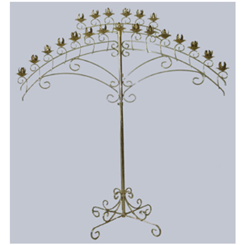 21 Candle Fan Candelabra Rental