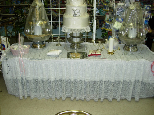 Lace Table Cover Rental