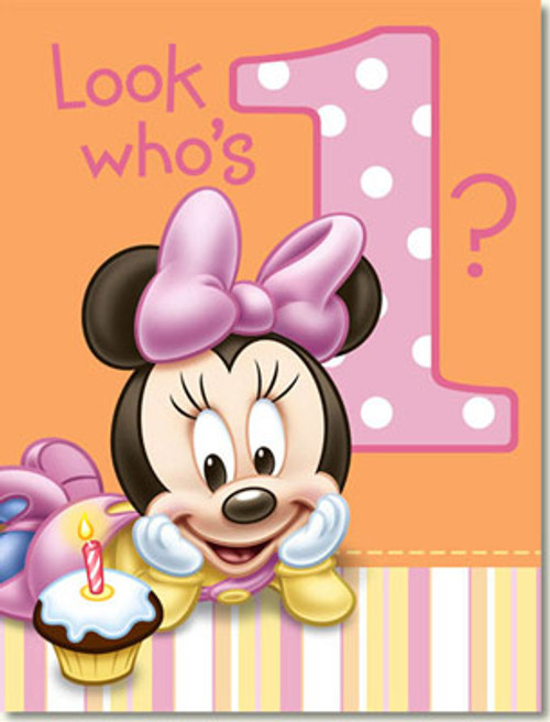 Minnie 1st Birthday Invitations