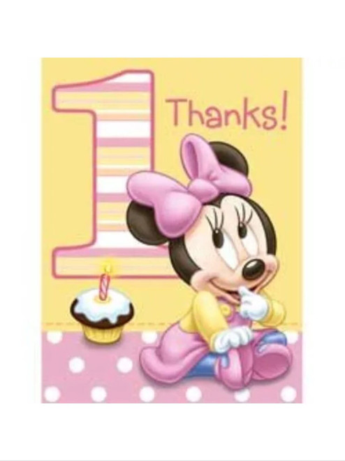 Minnie 1st Birthday Thank Yous