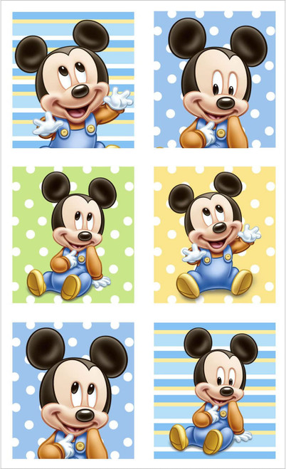 Mickey 1st Birthday Stickers