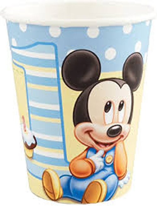 Mickey 1st Birthday Cups