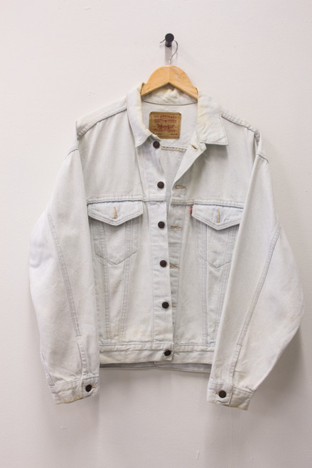 LEVI WHITE WASH VINTAGE DENIM JACKET
