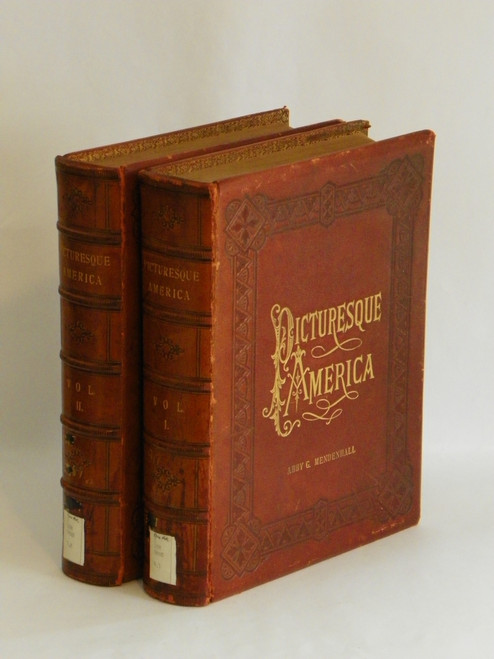 Picturesque America; or, The Land We Live In. (1872-1874 LEATHER) Illustrations TRAVEL