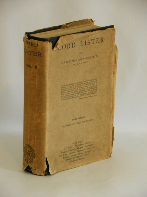 Lord Lister - Third Edition, Revised 1924 VINTAGE MEDICAL QUAKER Rickman Godlee