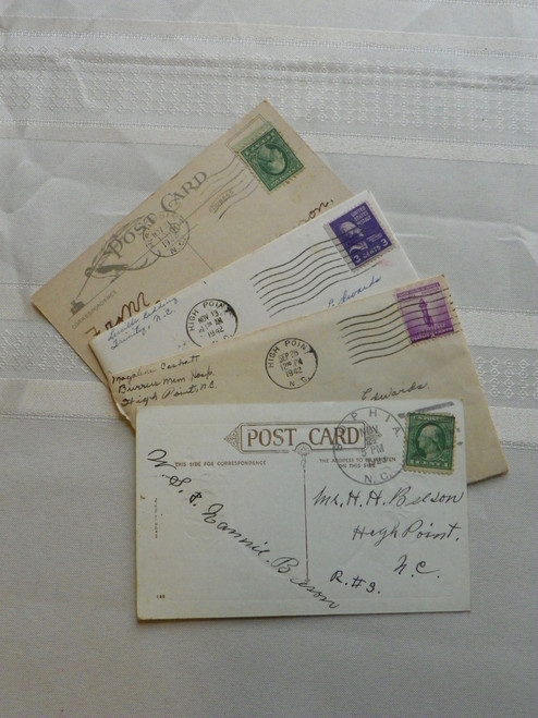 Postcards and letters, Randolph County, North Carolina EDWARDS, BEESON FAMILY