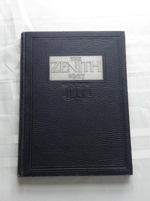 The Zenith 1927 Volume One with letter HIGH POINT COLLEGE NC GREAT DEPRESSION