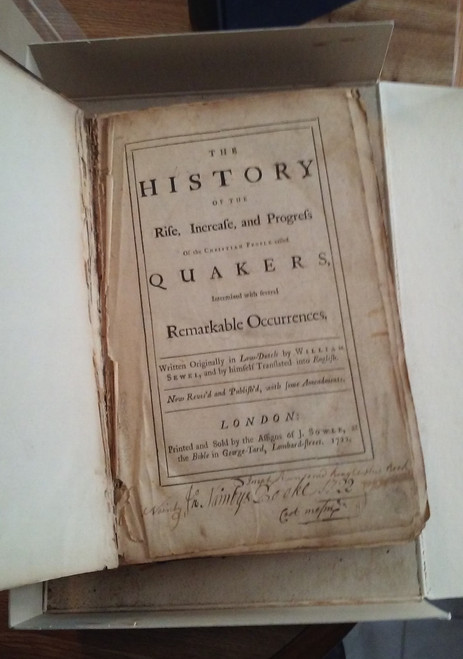 History of the Rise, Increase, and Progress .. Quakers 1722 William Sewel FIRST ENGLISH