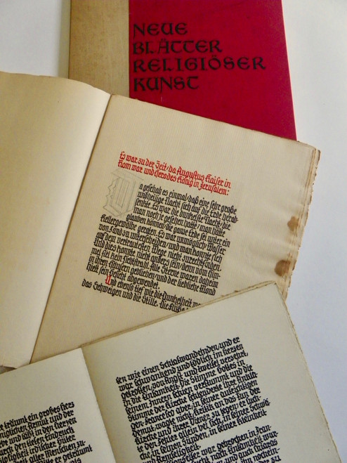 Neue Blätter Religiöser Kunst (New Sheets of Religious Art) with two calligraphy manuscripts