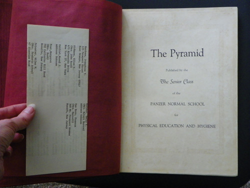 The Pyramid (1928 Panzer Normal School yearbook) SIGNED BY PANZER Montclair State University